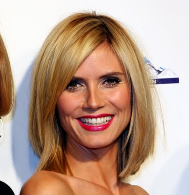 heidi klum haircut 2011. mid length blonde hairstyles