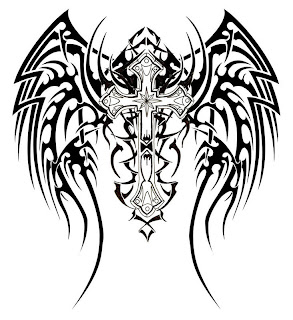 tribal wings cross