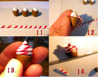 polymer clay cupcake tutorial - step 11 to 14