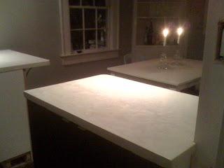 White Concrete Countertops