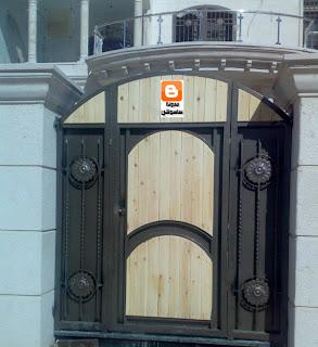 أبواب حديديه للمداخل   أبواب حديد لمداخل الفلل   صور باب حديد للكراج   أبواب