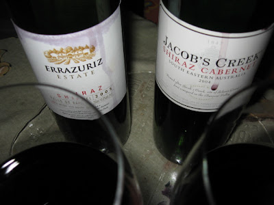 wbw 30 Errazuriz Estate Shiraz Valle de Rapel 2005 Jacob's Creek Shiraz/Cabernet South Eastern Australia 2004