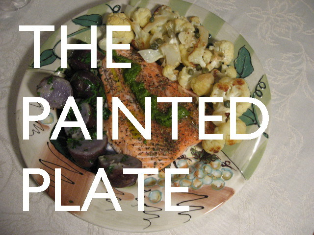 how to curate an exhibit without a computer the painted plate purple potatoes pesto pink trout choufleurs garnies