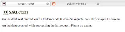 en panne saq.com saq vin site de web ne functionne pas down