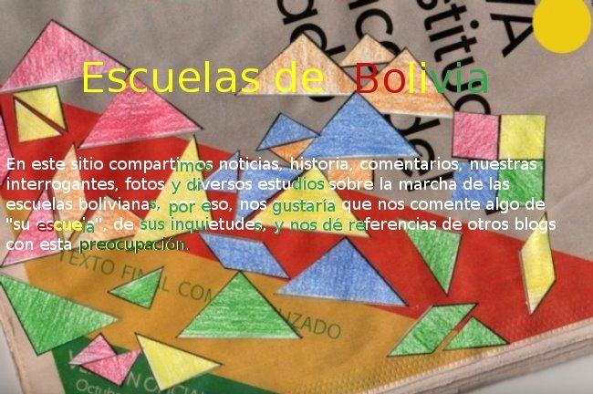 Escuelas   de    Bolivia
