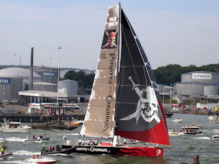 The Black Pearl near the finish line (in Gothenburg) of last leg of Volvo Ocean Race 2005/2006