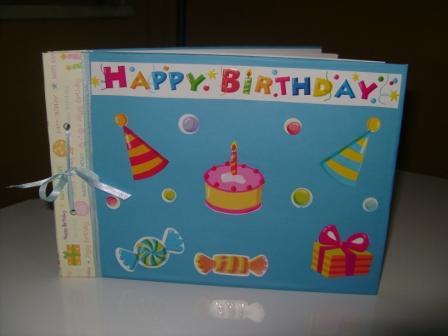 Livro de assinatura para aniversário