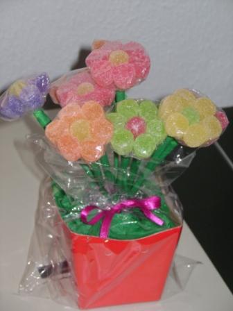 arranjo com flores de jujubas