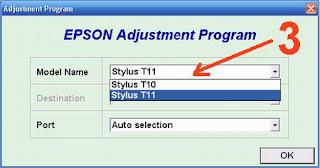 Reset Epson Stylus T11