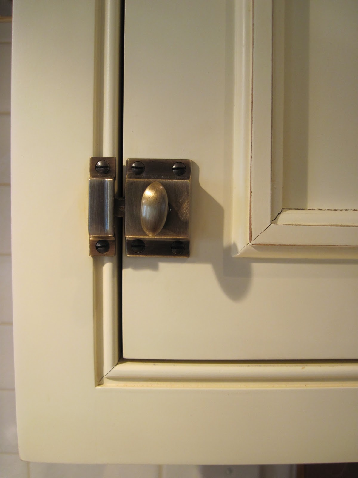 Antique Kitchen Cabinets with Latches