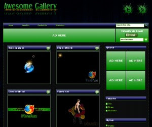 Awesome Gallery Blogger Template