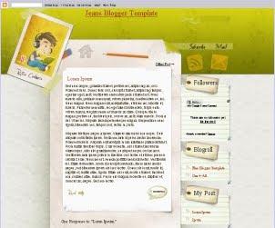 CoolRetro Blogger Template