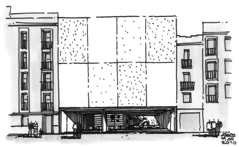 Dibujos de arquitecto architect drawings fachadas - Trabajo arquitecto barcelona ...