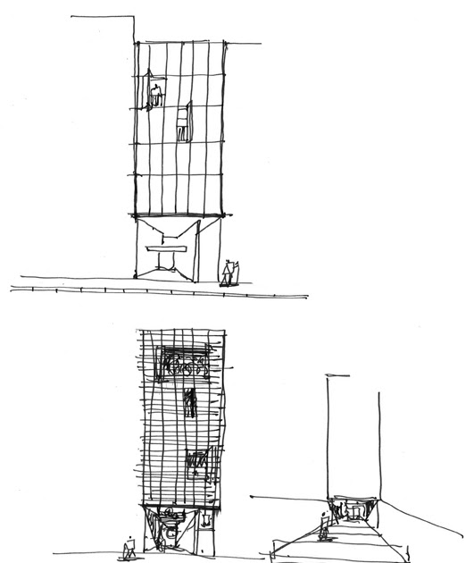 Dibujos de arquitecto architect drawings viviendas - Trabajo arquitecto barcelona ...