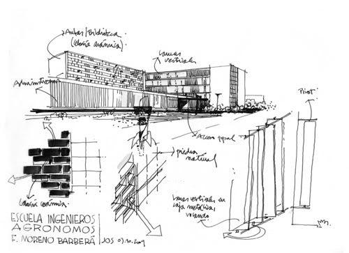 Dibujos de arquitecto architect drawings escuela - Trabajo arquitecto barcelona ...