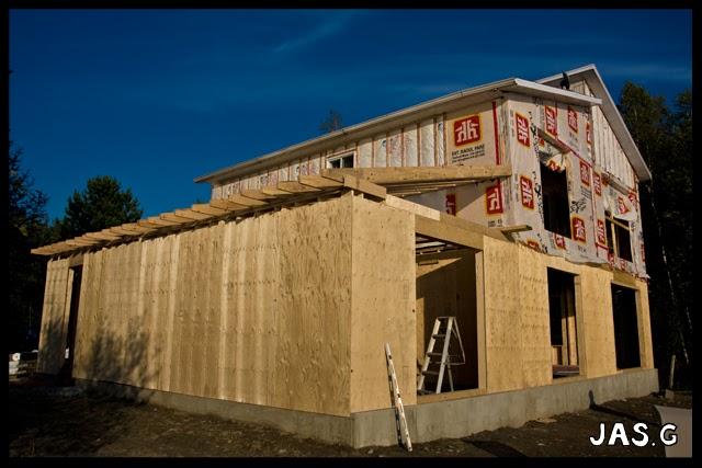 Le menuisier construction d 39 un garage attach la maison for Dalle chauffante exterieur