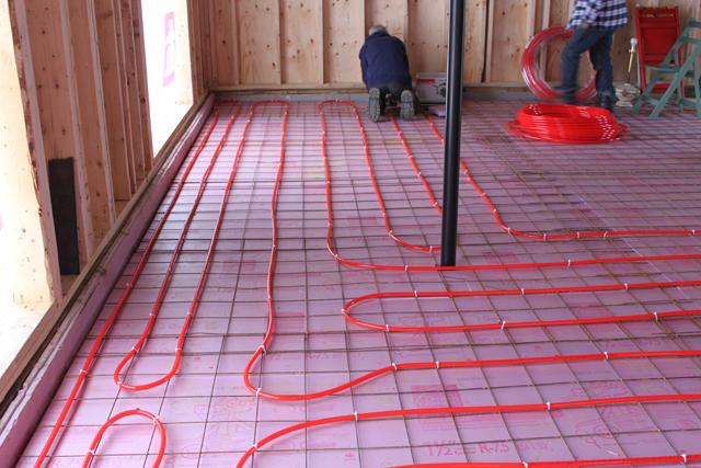Chauffage climatisation plancher garage chauffant glycol - Plancher chauffant pour garage ...