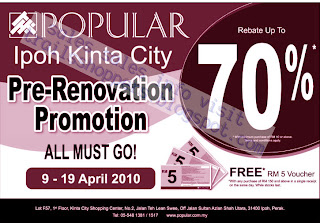 Popular Bookstore Pre-Renovation Promotion - Ipoh