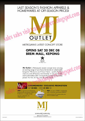 mj outlet sale brem mall kepong