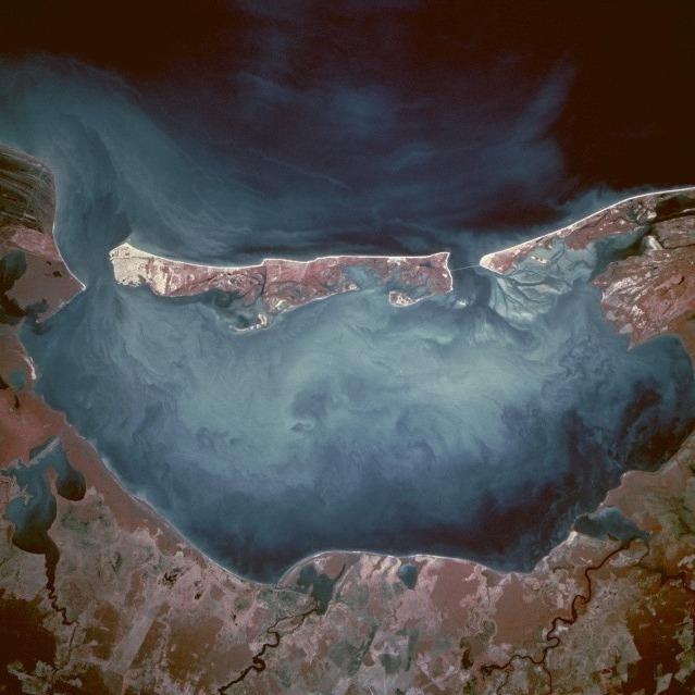 """foto satelital de la isla del Carmen """"la perla del golfo"""""""
