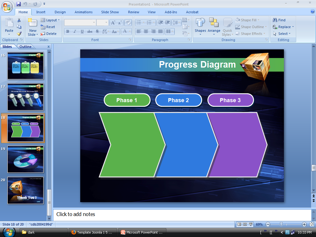 Torrent PowerPoint Templates and   PoweredTemplate