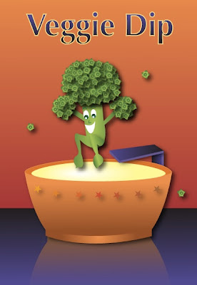 veggie dip illustration