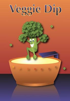 veggie dip illustration