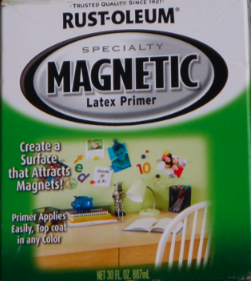 label for magnetic paint