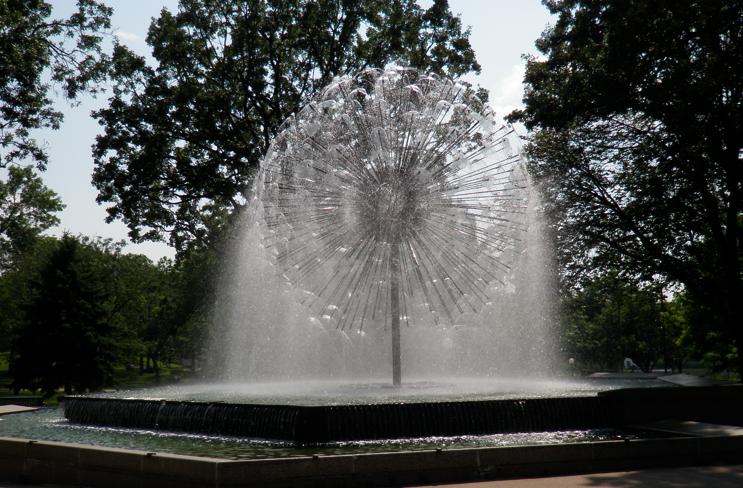 Dandelion Fountain, Berger Fountain in Loring Park