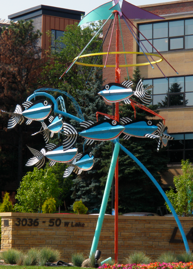 Fish Carousel Sculpture by Guy Baldwin. Minneapolis, Minnesota