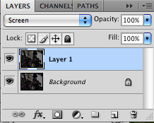 screen shot of layers panel