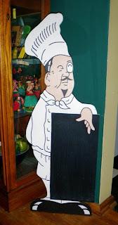 Standup Chef Menu Chalkboard