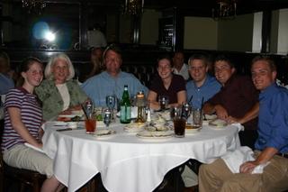 Family dinner in Chicago, 9JUL07