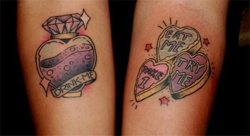 In wonderland tattoos the cartoon possibly a small one of for Small alice in wonderland tattoos