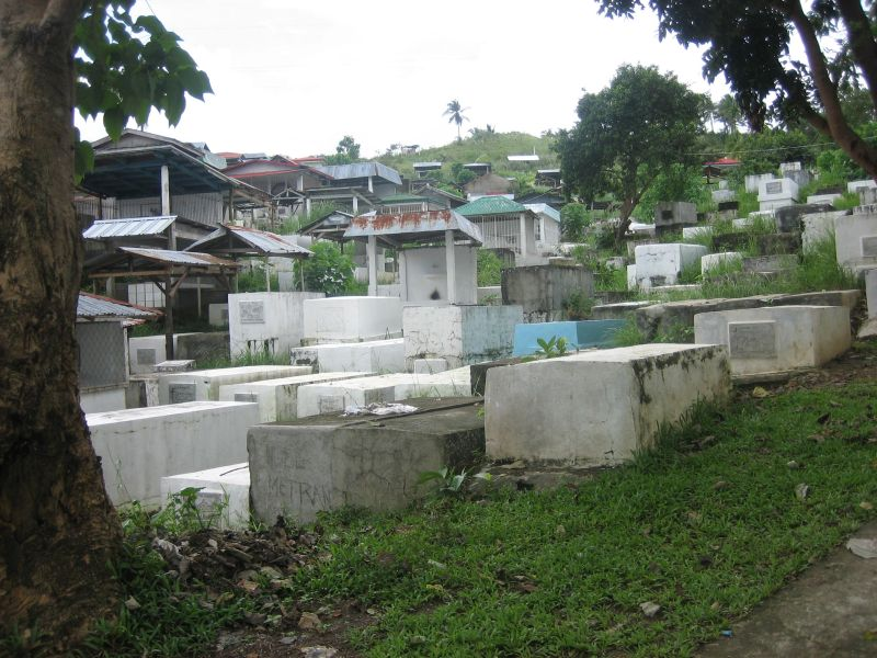A village cemetery in the Visayas
