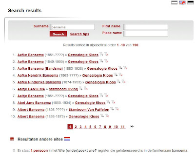 Genealogie Online - Search results