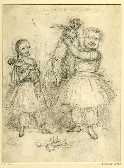 Sketch of children playing