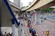 LRT Putra Central Market Permulaan Landasan Atas Bumi Ke Bawah Bumi