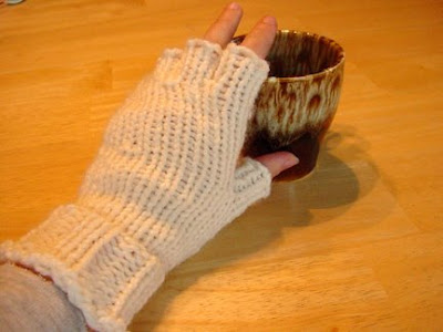 Free Knitting Pattern Fingerless Gloves/Glittens - Crocheting