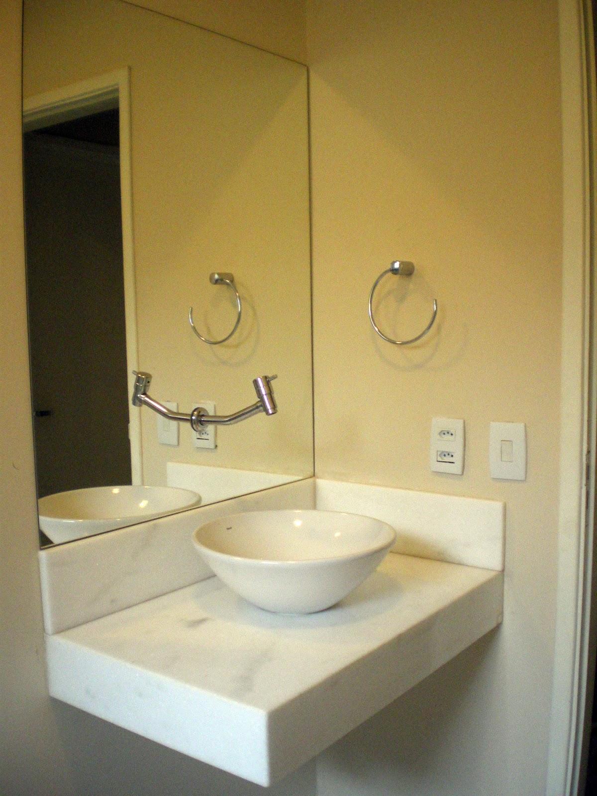 Banheiro social – cuba #8C7336 1200x1600 Banheiro Com Porcelanato Carrara