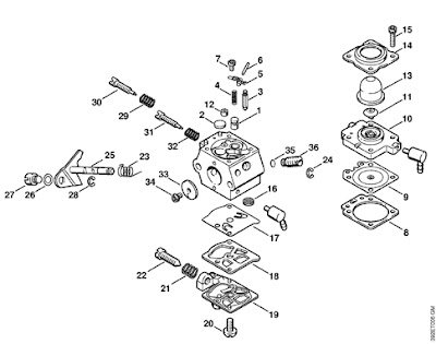 stihl fs 55 carburetor diagram stihl fs90r carburetor