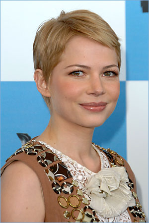 michelle williams short hair images. michelle williams hair short.