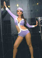 Julia Perez (Jupe) in Sweet Soft Purple Sexy Costume Model Photoshoot Session