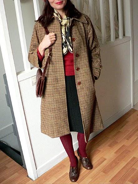 les dedees vintage recup creations chic et retro le manteau annees 50 by ben. Black Bedroom Furniture Sets. Home Design Ideas