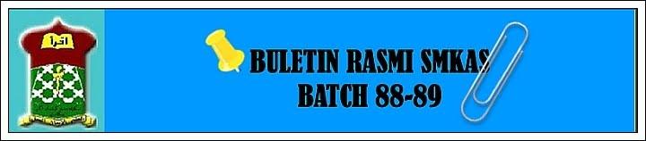 BULETIN RASMI ALUMNI SMKAS - KELAS 88-89