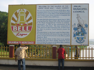 Billboard at Source of the Nile