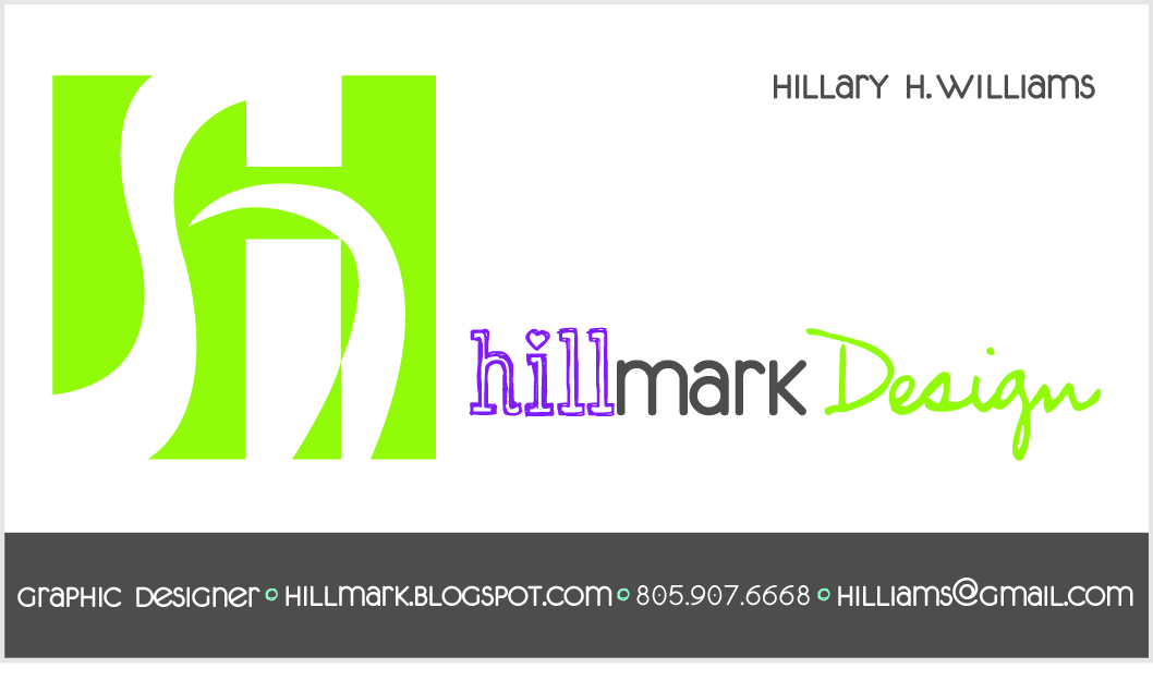 HILLMARK Design: Your own customized business cards- 12 per page