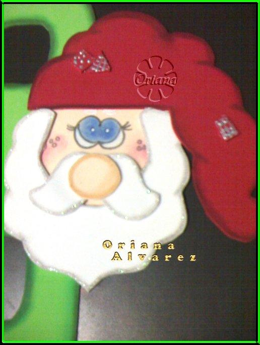 Cartel de foamy para decorar en esta navidad.