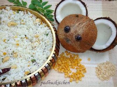 thengai sadam-coconut rice recipe