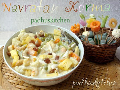 Navratan Korma -Navratan Korma recipe -Navaratna Kurma ...